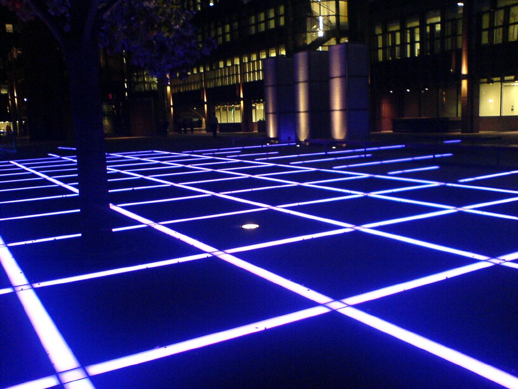 Broadgate Floor Lights Near Liverpool Street These