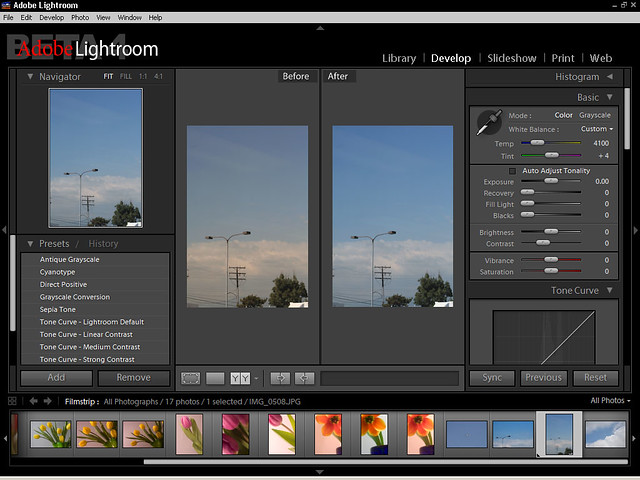 Find image adobe lightroom screenshot just a screenshot to go with