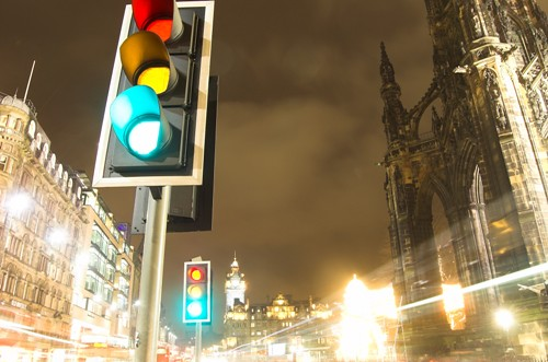 Street Traffic Traffic Light Princes Street