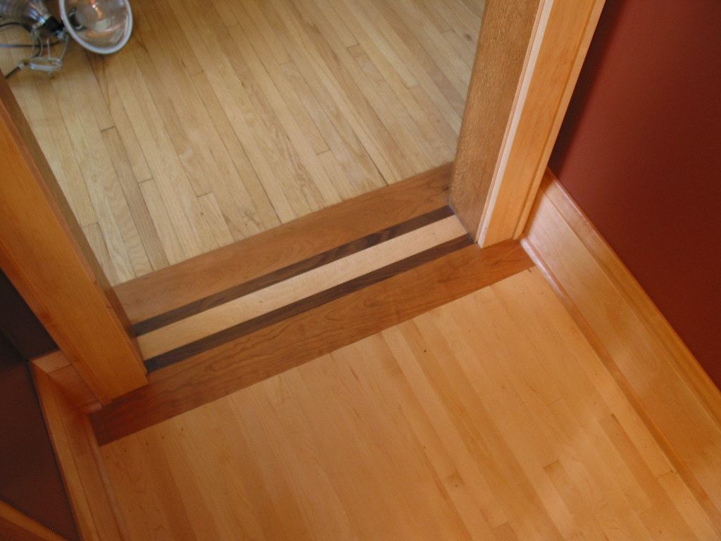 wood floor transition this custom floor transition made