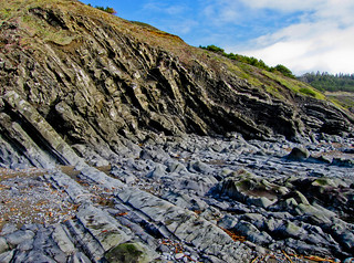 Vertical Rock Layers on Beach South of Port Orford--img1932 | by Lance & Cromwell back from a Road Trip