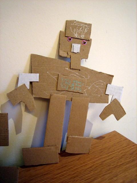 cardboard robot 1