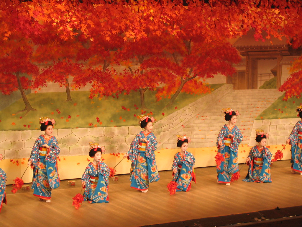 Cherry dance in Kyoto