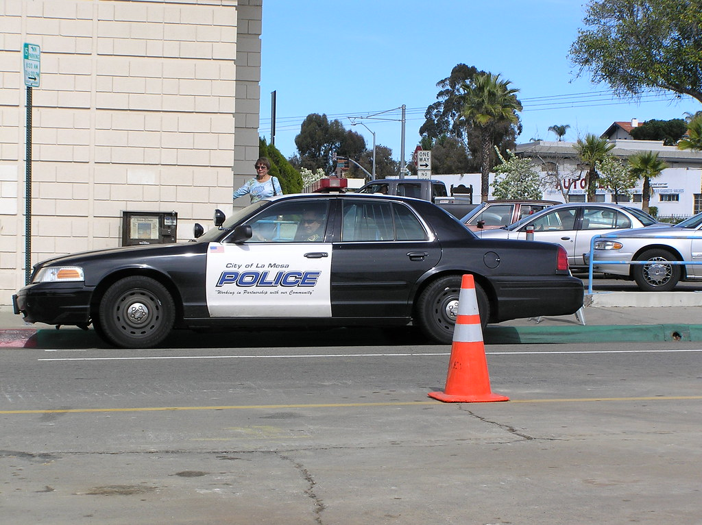 La Mesa Police Car Parked Outside Of Post Office Ever