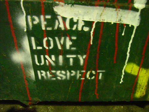 Peace Love Unity Respect | by badjonni