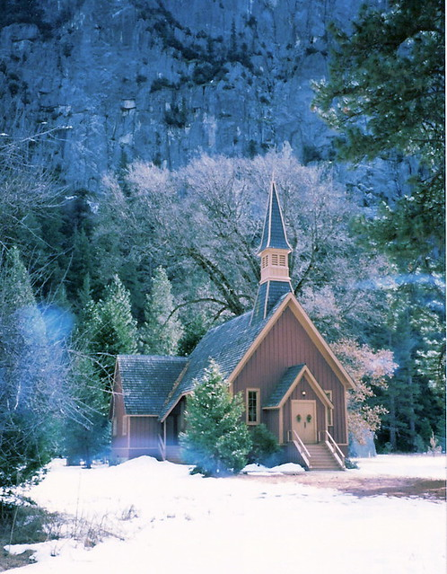 Church In The Snow Church At Yosemite National Park I