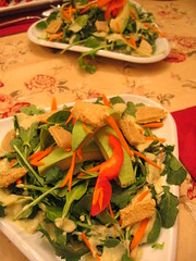 arugula_salad with cashew_cheese and avocado | by tofu666
