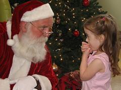 Hailey Talks to Santa