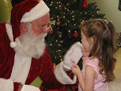 Hailey Gets Candy from Santa