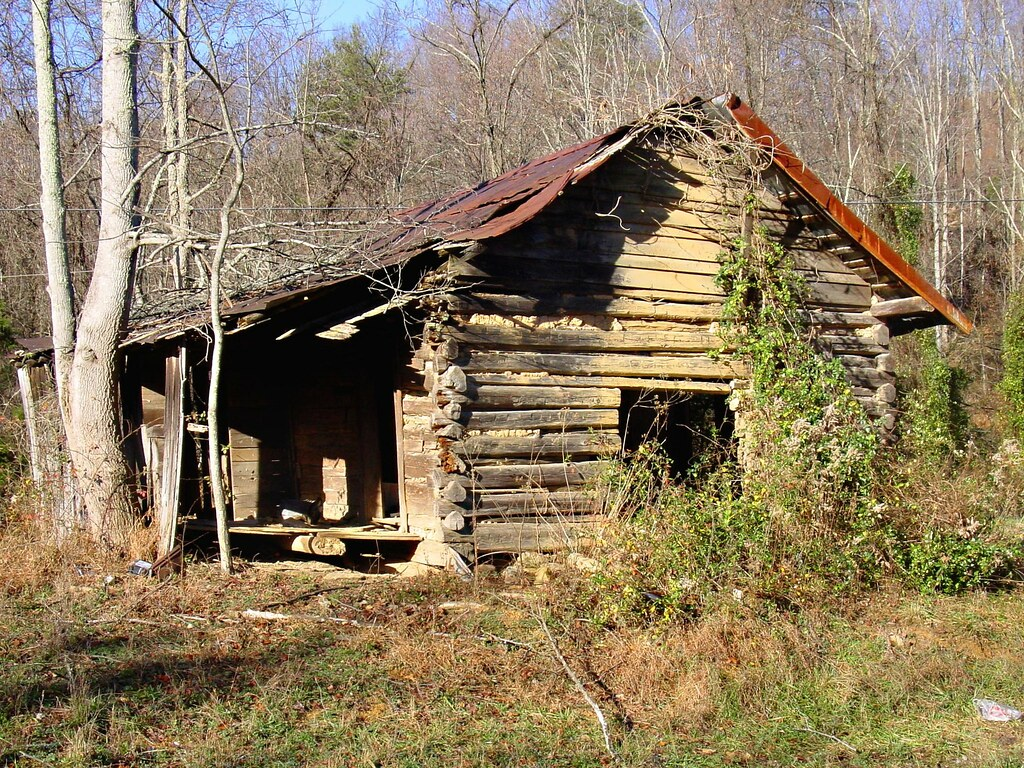 Old Log Cabin On Clinch Mountain Color John Duford Flickr