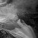 DeSoto Falls in B&W.