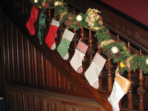 Stockings we hang our stockings on the staircase for Hang stockings staircase