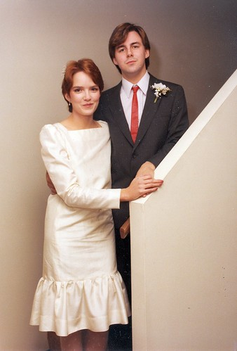 CJ Lee wedding stairs 3.jpg | by Carl's Old Photos (@HoxsieAlbany)