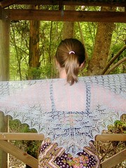 Finished Swallowtail Shawl | by grevillea.