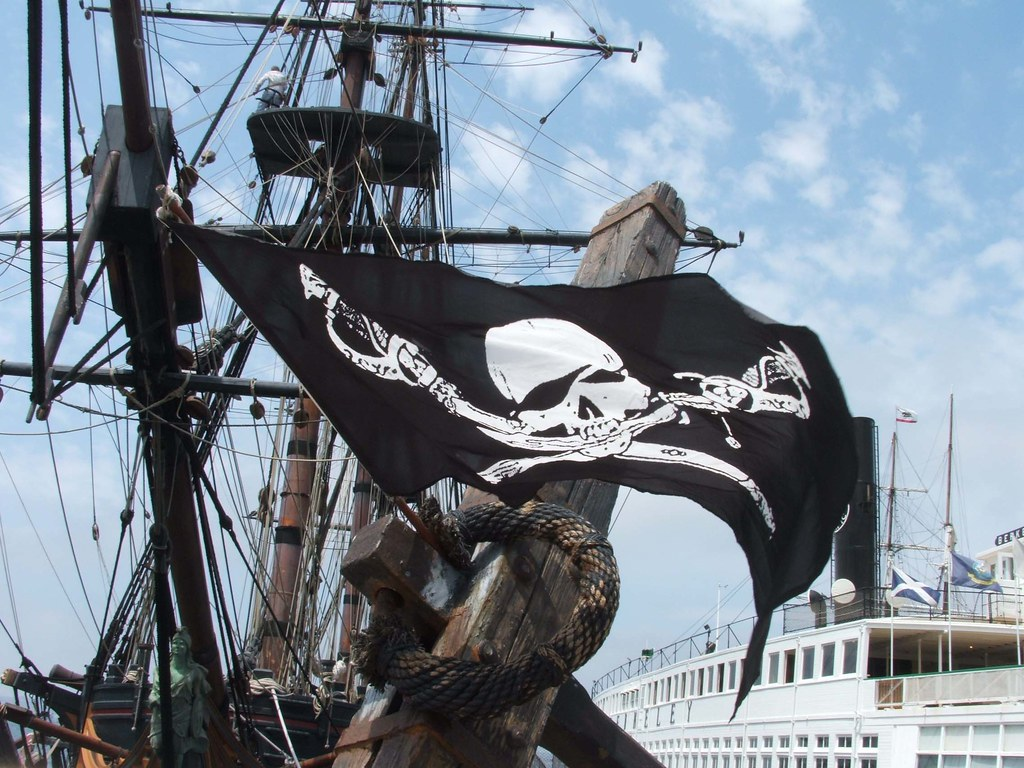 Pirate Flag Waving Waving Pirate Flag 3 by
