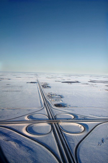A Highway Near Winnipeg Mb This Highway Prairie
