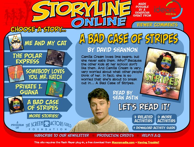 Storyline Online: A Bad Case of Stripes read by Sean Astin… | Flickr