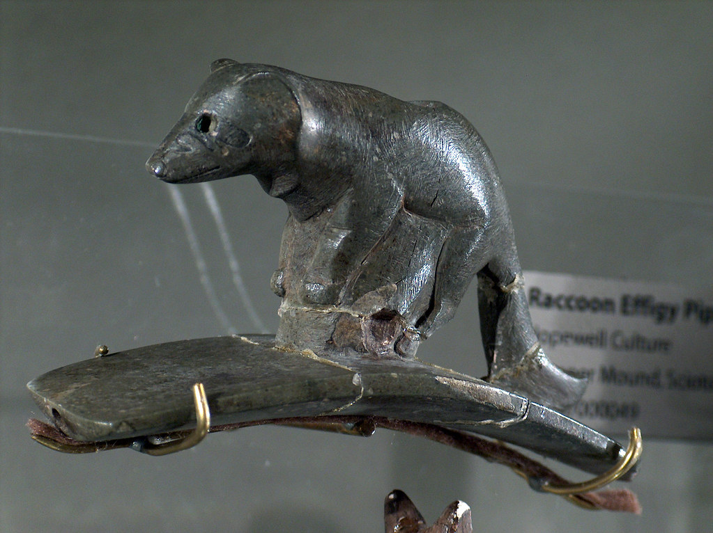R Is For Raccoon Raccoon effigy pipe, H...