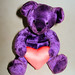 Purple Bear with Heart