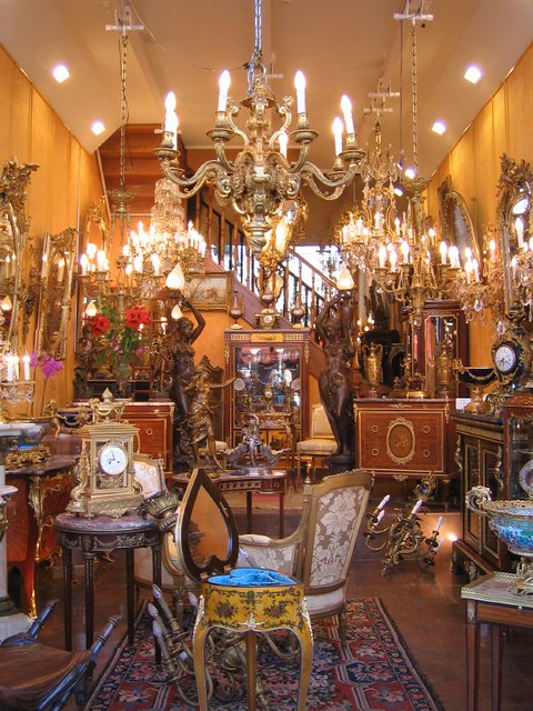 paris antique market one of the more elaborate stands at t flickr. Black Bedroom Furniture Sets. Home Design Ideas