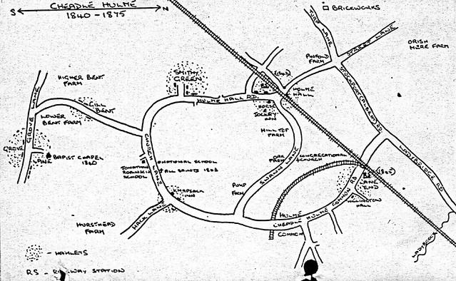 cheadle hulme old map