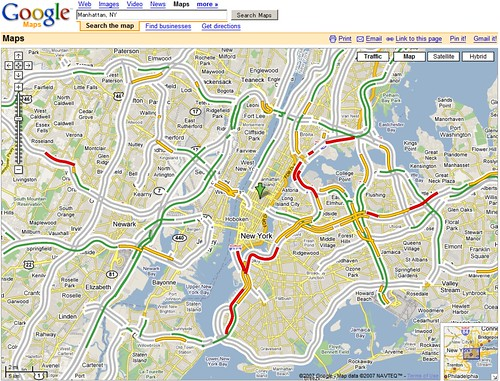 how to read google maps traffic