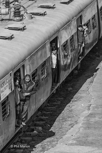 New arrival at New Delhi train station | by Phil Marion