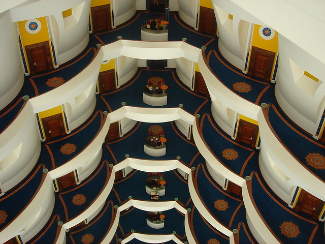 Burj Al-Arab from 18th flloor | The Burj Al-Arab Hotel is