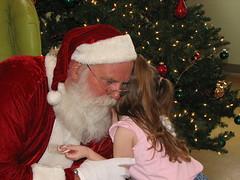 Hailey Gives Santa a Thank-you Hug