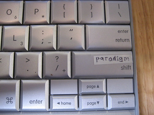 Paradigm shift keyboard | by askpang