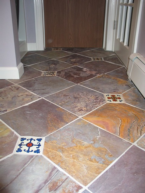 Kitchen With Slate Tile Floor