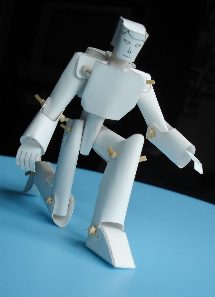 Blank Robot Model 00 Fully Articulated Paper Robot