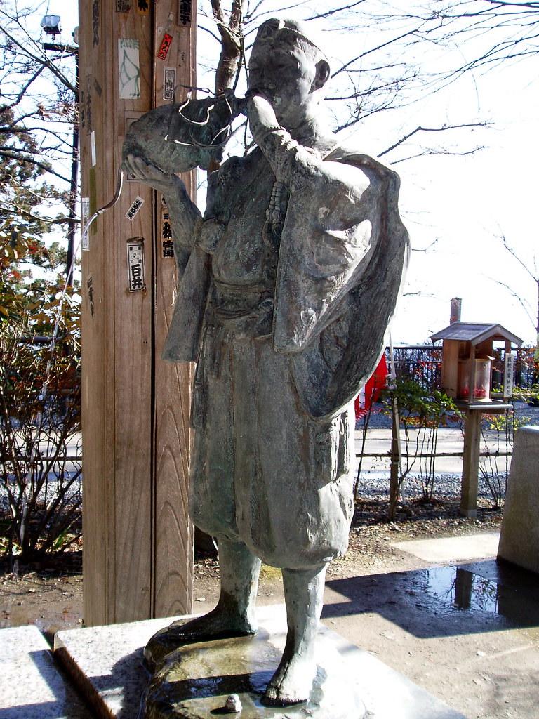 8488 fountain statue of mountain priest 山伏 bull 山伏 ya