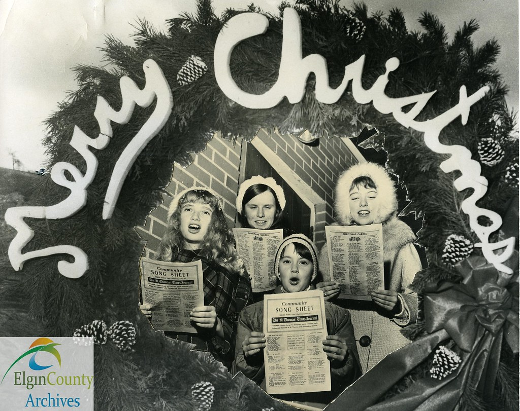 christmas scenes st thomas christmas carollers 1970 by elgin county archives - Christmas Carollers