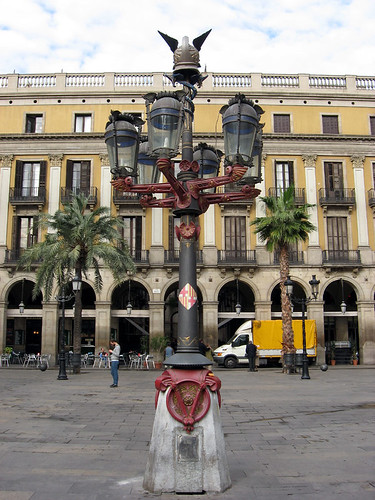 Barcelona Gaudi Lamppost At Placa Reial Not The