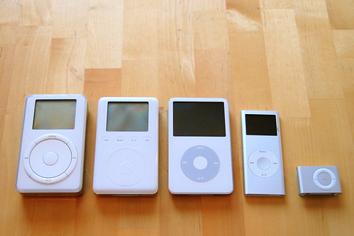 Five iPods | by mcwetboy