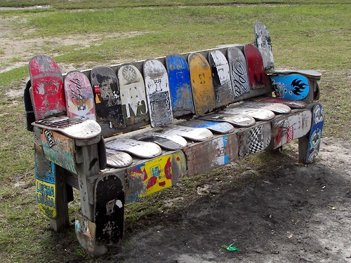 Skateboard Bench | by Carla Finley