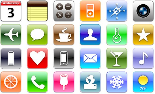 iPhone GUI Icons | by domanske
