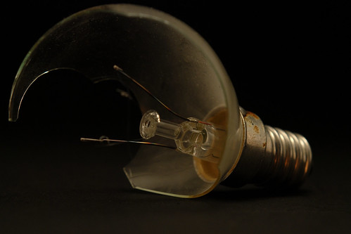 Broken light bulb | by Pacomanolo