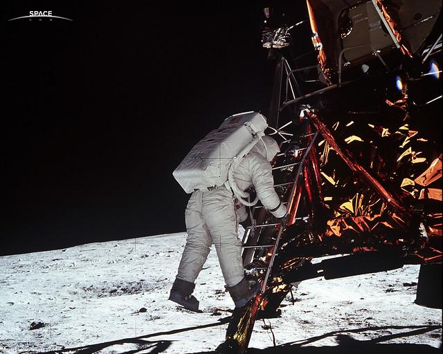 Decent from the Lunar Module