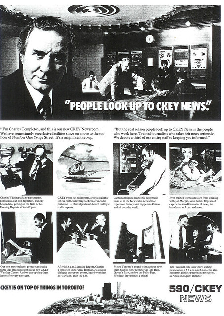 Vintage Ad #184 - People Look Up to CKEY News