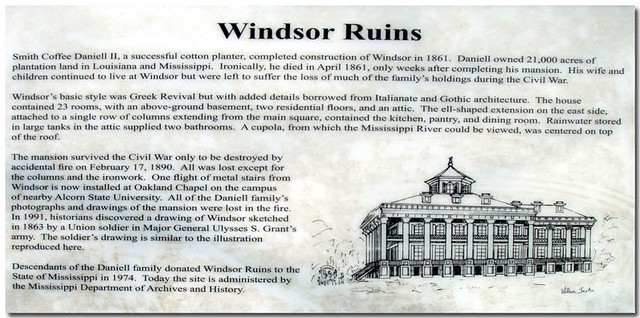 Windsor Ruins Near Port Gibson Ms This Is The One