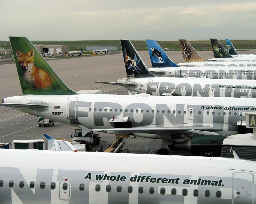 The animals of Frontier Airlines | Parked at Denver ...