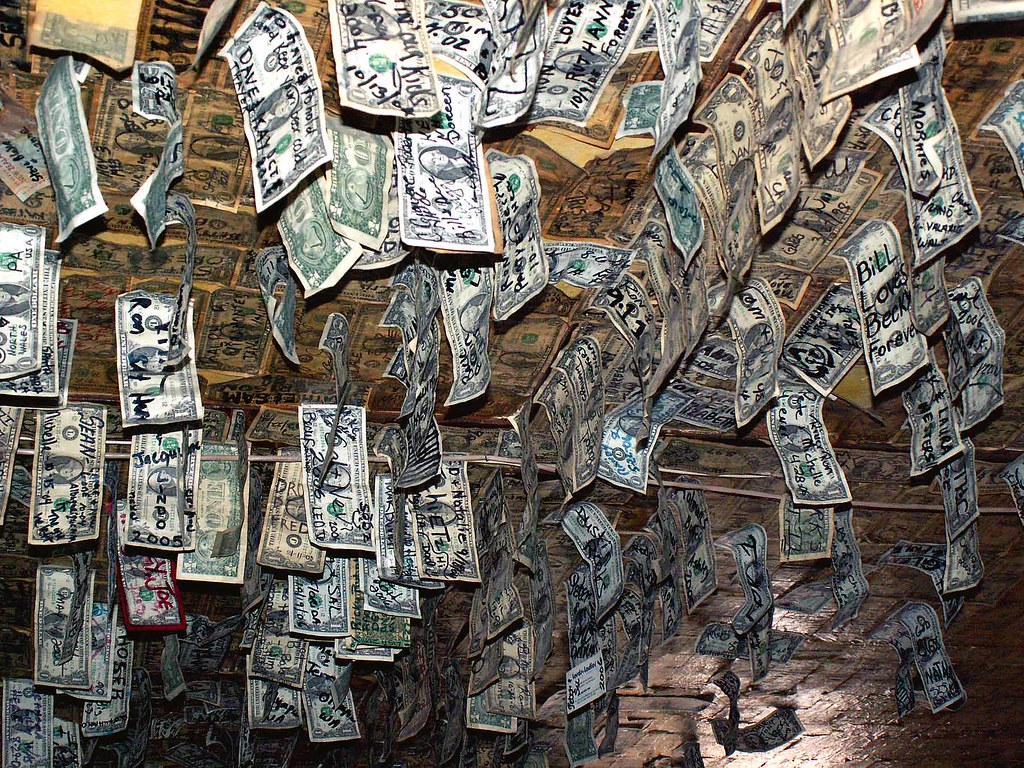 Bill Loves Becky Money Ceiling Bills Hanging From The