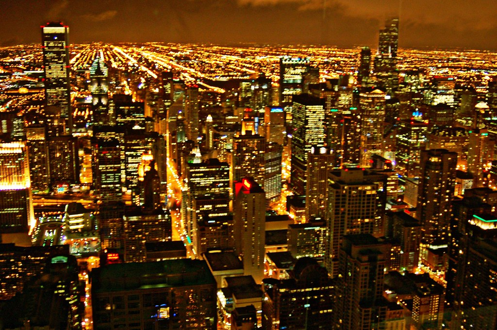 Bathroom John view from john hancock bathroom | sears tower at right. | flickr