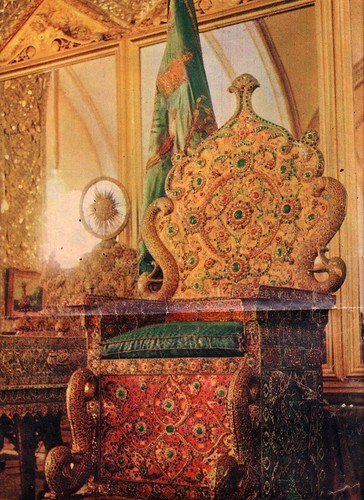 The throne of Iran, the peacock throne as shown by AlMosaw ...