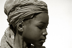 Portrait of an african girl wearing a traditionnal boubou style hat | by anthonyasael