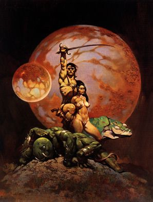 frank frazetta art wallpaper