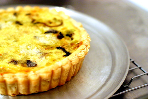 mushroom and leek quiche | by smitten kitchen