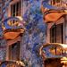 detalle de balcones en la Casa Batlló, Passeig de Gràcia, Barcelona